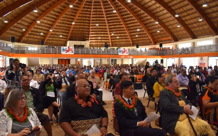 Many Tongan community leaders and foreign diplomats attended the roll-out of the Covid-19 vaccine.