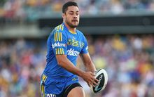 Jarryd Hayne in action for the Eels in May