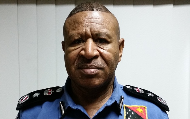 The Police Commissioner of Papua New Guinea, Geoffrey Vaki.