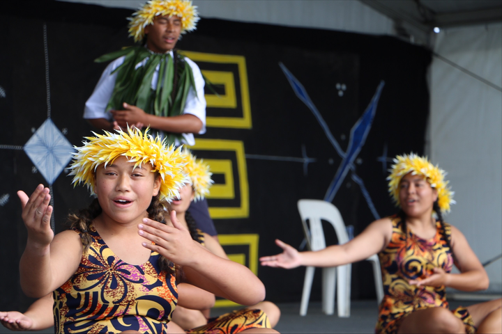 Lynfield College on the Niue stage at Polyfest 2021