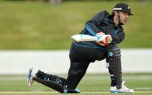 Daniel Vettori batting for the NZ XI against Scotland at Lincoln