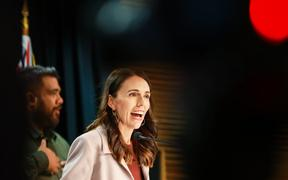 Prime Minister Jacinda Ardern, speaking after a Cabinet meeting, welcomes Australian travellers to New Zealand on the first day of the trans-Tasman travel bubble.