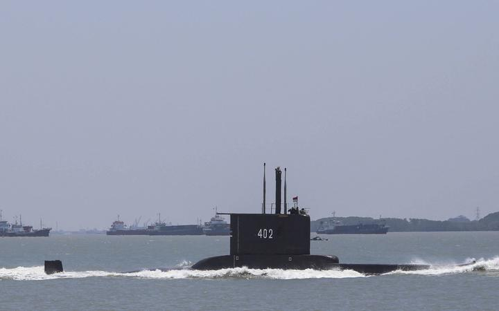 The Indonesian Cakra submarine KRI Nanggala sailing out from the port in Cilegon, Banten, on 5 October 2017.