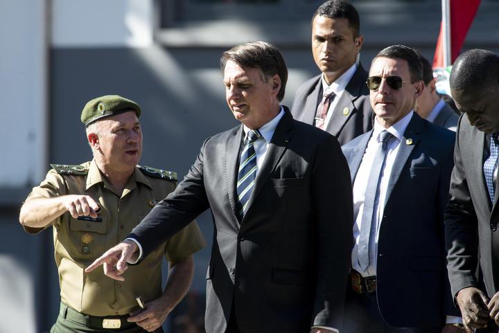 Presidente brasileiro Jair Bolsonaro.
