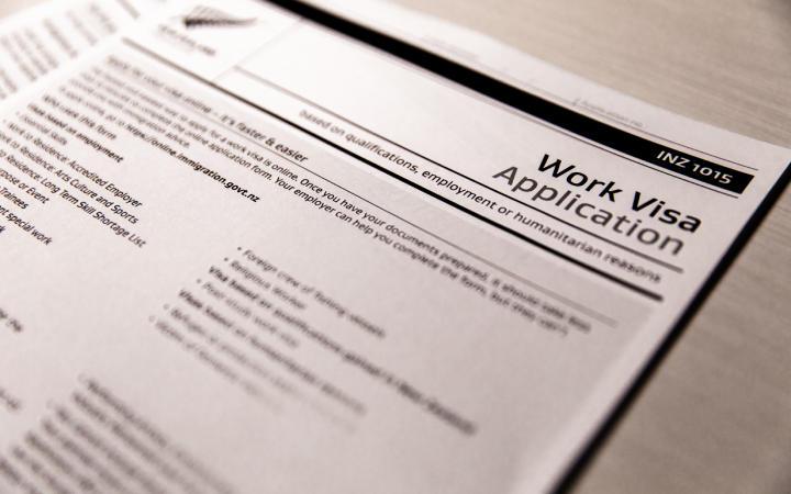 Work visa application form