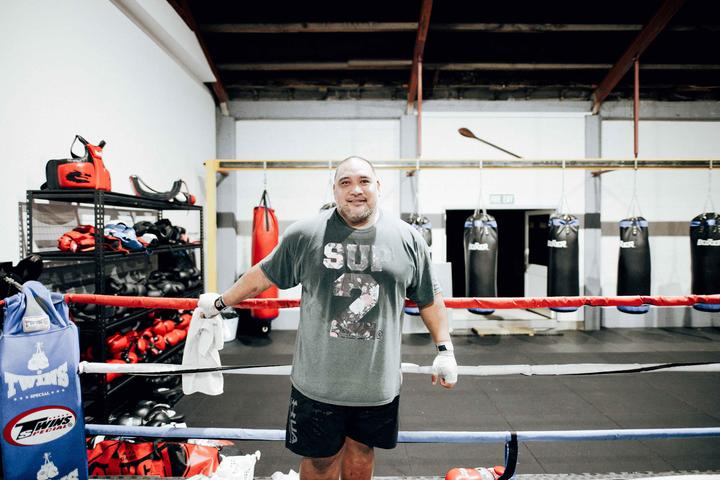Elijah Fonoti's whole family are regulars are Punchfit NZ Boxing Gym.