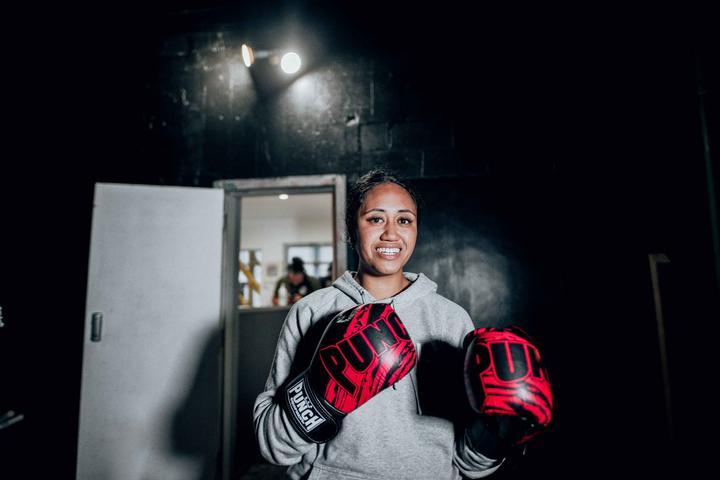 Theresa Lealofi has been attending classes at Punchfit NZ Boxing Gym since the early days.