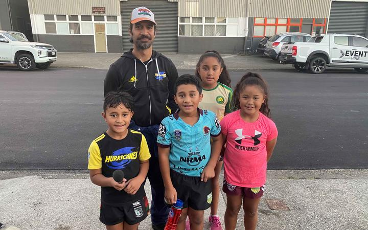 Cam Koloi, sons Joseph and Rigby and nieces Sofia and Vitolia, all attend Punchfit classes.