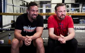 Joseph Parker and new trainer Andy Lee.