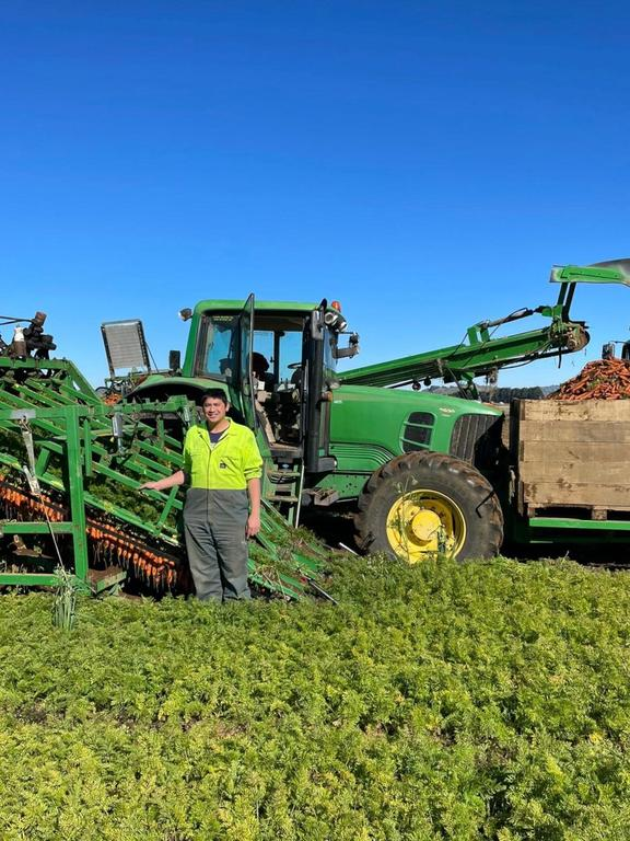 Scott Young's family company grows most of their vegetables on the rich volcanic soils up Mangateitei Road.