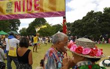The Niue cultural section at the annual Pasifika Festival in Western Springs Park in 2010.
