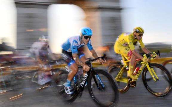 Lione, FRANCIA - 12 SETTEMBRE: Billiton durante la fase 14 della 107a edizione della corsa ciclistica Tour de France 2020, una tappa di 170 chilometri che inizia a Clermont-Ferrand e termina a Lione il 12 settembre 2020 a Lione, Francia, 09 /12/2020