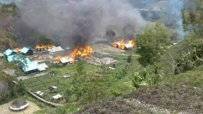 Villages fired on as Indonesian forces chase West Papuan fighters