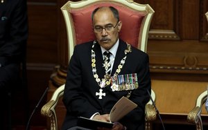 The Rt Hon Sir Jerry Mateparae Governor General of New Zealand  during his speech at the official opening of Parliament in Wellington