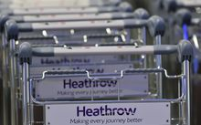 Trollies at Heathrow Airport