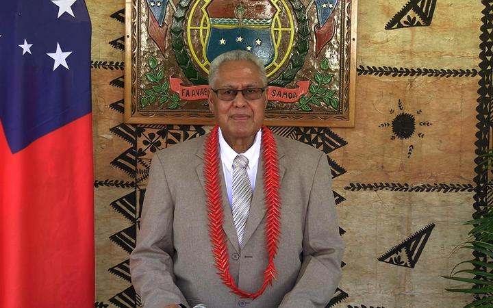 The head of state of Samoa, Tuimalealiifano Va'aletoa Sualauvi