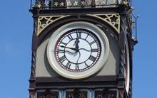Christchurch's historic clock tower.