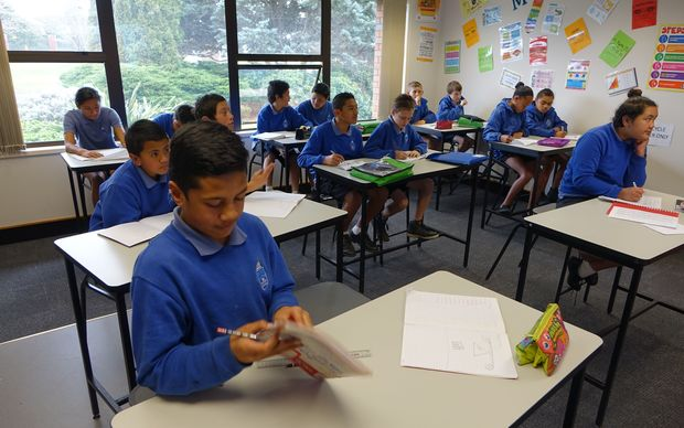 Pupils at South Auckland Middle School.