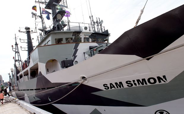 The Sam Simon will be in Auckland and Wellington before heading off to Antarctica later in the year.