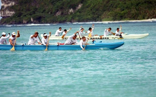 Teams practice for Micronesia Cup.