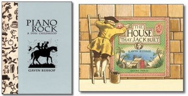 Piano Rock and The House that Jack Built book covers.