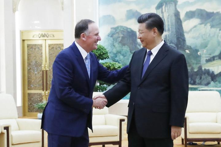 John Key and President Xi Jinping