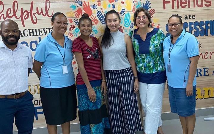 Some of the members of the Days for Girls Meris Malo workers based in Lae, Papua New Guinea.