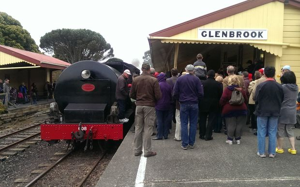 Hundreds turned out at the Glenbrook Station for a ride.