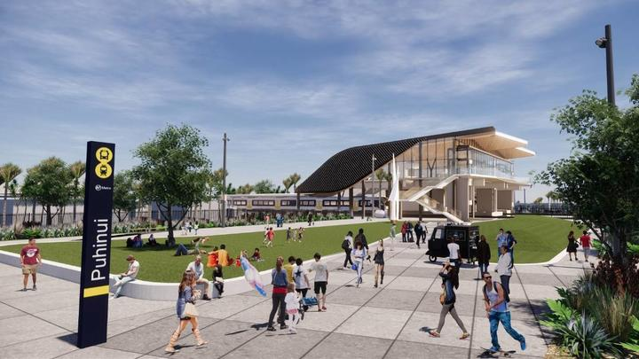 An artist's impression of what the finished station should look like.
