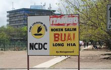 A sign about the betelnut ban in Port Moresby, the capital of Papua New Guinea