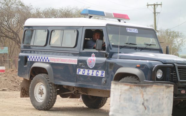 A Papua New Guinea police vehicle