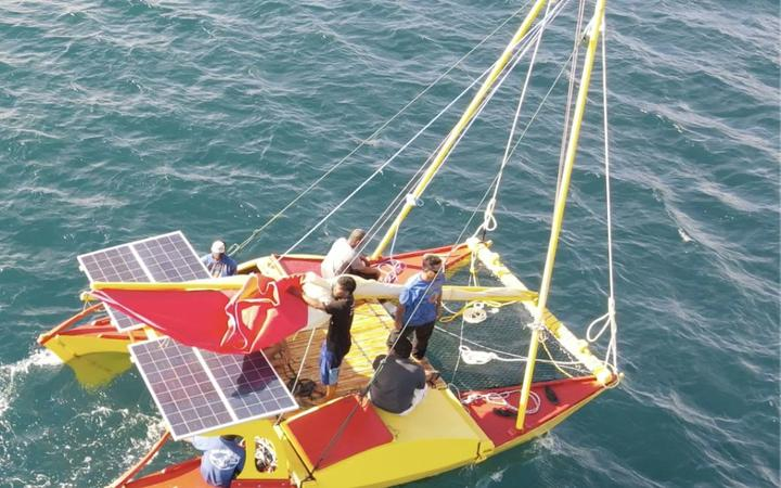 A locally designed and built catamaran for use on remote outer atolls in the Marshall Islands is this week trialing use of a solar-powered 15hp engine.