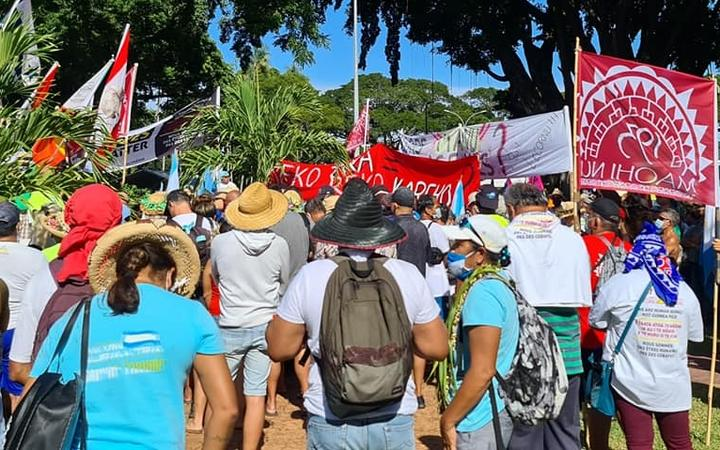 Anti-nuclear rally in Papeete