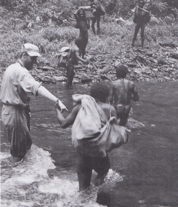 Dani tribesmen with Philip Temple