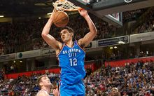 Steven Adams in action for OKC