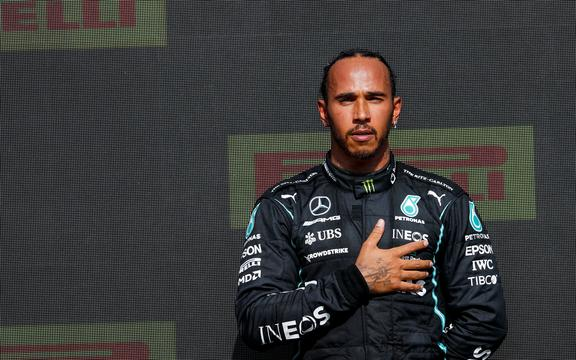 Mercedes F1 driver Lewis Hamilton.
