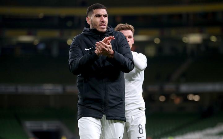 Fundașul echipei albe Michael Boxall după meciul amical internațional al Noii Zeelande împotriva Republicii Irlanda, la Dublin, 14.11.2019.