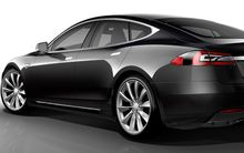 The Model S Tesla electric car.