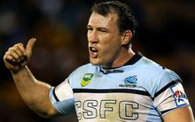 Cronulla captain Paul Gallen has returned to training after serving his suspension.