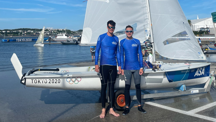 American Samoa sailing duo Adrian Hoesche and Tyler Paige