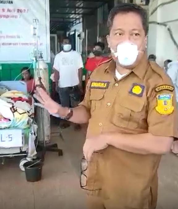 Papua provincial health spokesman Silvanus Sumule July 2021