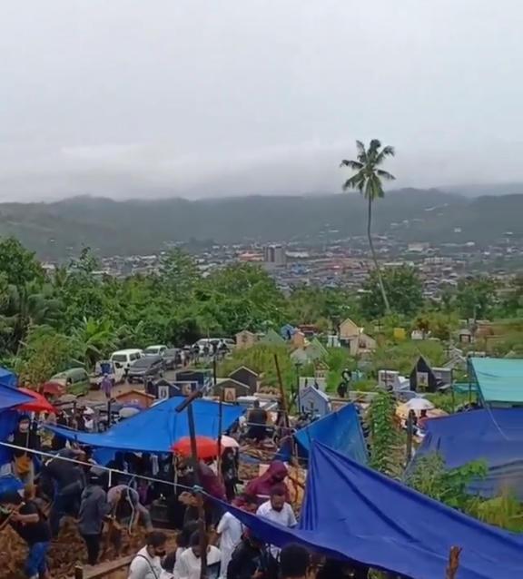 Abepura cemetery, Jayapura, Papua, 25 July, 2021