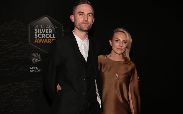 Joel Little and wife Gemma Robinson at the 2014 Silver Scroll Awards.