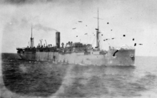 Troop transport SS Waimana on its way from Auckland to Egypt in 1914.