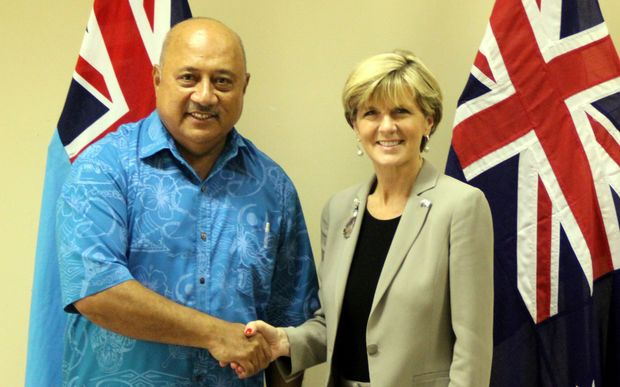 Ratu Inoke Kubuabola and Julie Bishop