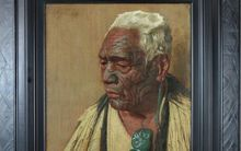 Goldie's painting 'Thoughts of a Tohunga, Wharekauri Tahuna' which sold this week at auction for $416,000.