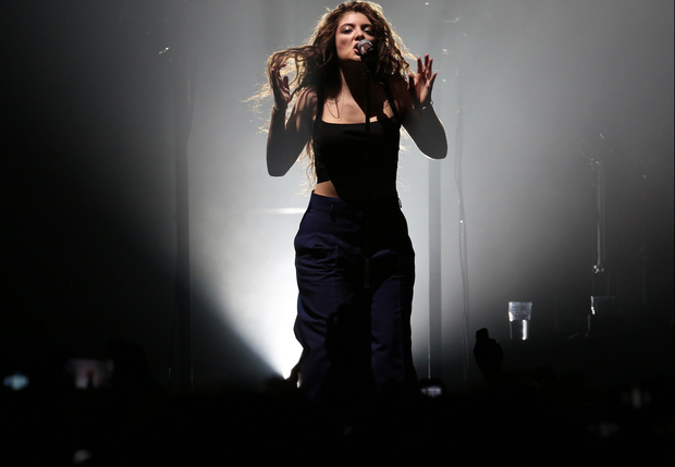 Lorde performing on the TSB Arena, Wellington