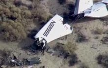 Virgin Galactic's SpaceShipTwo has crashed during a test flight over California.