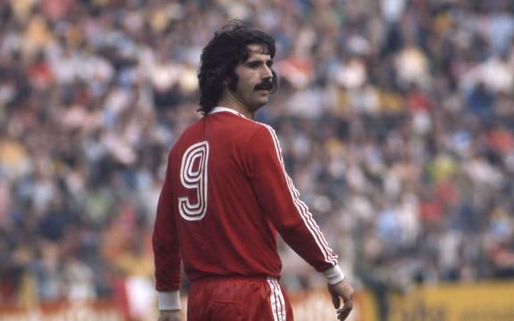 Duitse voetballegende Gerd Muller.