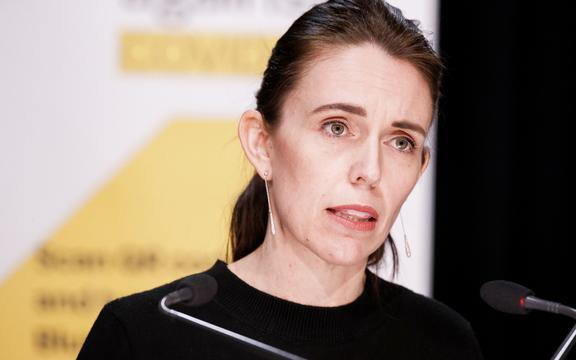 Prime Minister Jacinda Ardern speaks to the country on day two of the lockdown.